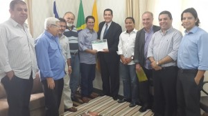 Antonio Américo e comitiva no gabinete de Edvaldo Holanda (Foto/Edvan Fonseca)