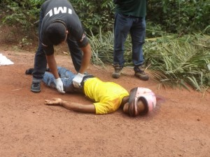 Resgate com equipe do IML (foto/M.Rodrigues)