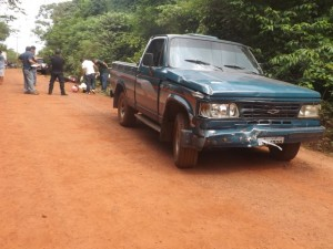 Caminhonete D-20 matou adolescente (foto/M. Rodrigues)