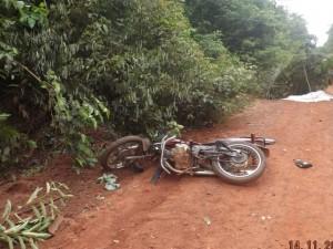 Motocicleta envolvida no acidente (foto/M.Rodrigues)