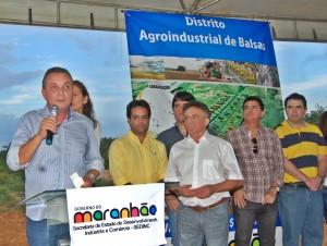 Luís Fernando falou dos benefícios do Distrito Agroindustrial de Balsas (foto/Jorge Ribeiro)
