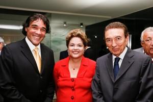 Lobão Filho, Dilma Rosseff e Ministro Edson Lobão (Foto/Roberto Sturcket)