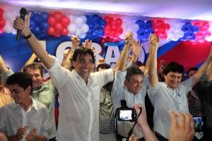 Senador Lobão Filho recebe o apoio de lideranças políticas da região tocantina (Foto/Biaman Prado)