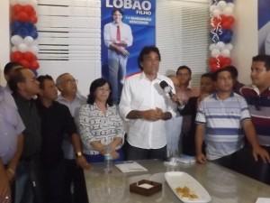 Senador Lobão Filho (PMDB) em Imperatriz (Foto/M. Rodrigues)