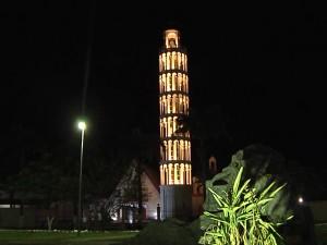 Réplica Torre de Pisa (Foto/Divulgação/TV Mirante)