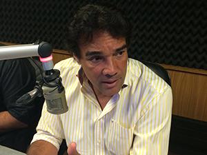 Lobão Filho em programa de rádio (Foto/Divulgação)