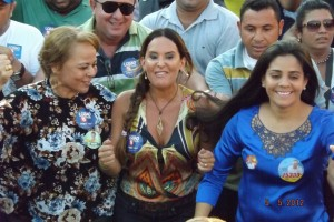 Paulinha Lobão quando visita a Imperatriz (Foto/divulgação)