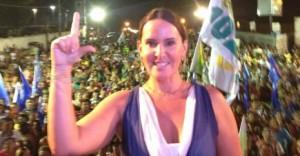 Paulinha Lobão cumpre agenda na campanha (Foto/Divulgação)