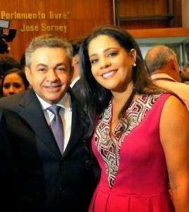 Deputado Antonio Pereira e esposa Karol