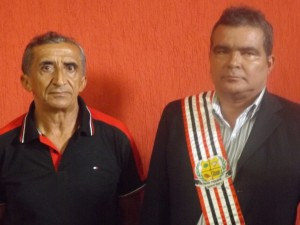 Vereador Pedro Silvino e prefeito Salomão Filho (Foto/Marcelle)