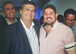 Flávio Dino e ex-prefeito Dioni Alves (Foto/Divulgação)