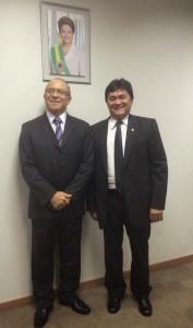 Deputado Léo Cunho e o ministro Eliseu Padilha (Foto: Arquivo)