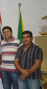 Vereador Régis do Sertão ao lado de Clésio Cardoso