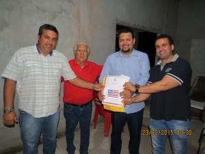 Saulo Dino. Sálvio Dino, Cleyton Noleto e Alex Santos - projeto do Imperatriz (Foto: Maurício Oliveira)