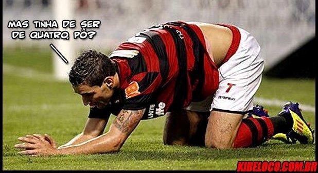 Tiago Neves, principal jogador do Fla, não conseguiu evitar a derrota de quatro