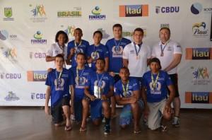 Equipe de Handebol Masculina da Universidade Ceuma