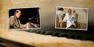 Foto - O pianista e compositor Alexandre Tavares e o Prof. Ramiro Azevedo, docente da Universidade Ceuma