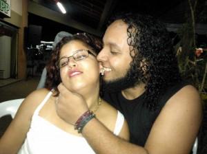 O casal Dahlia Ferreira e , Raphael Carvalho