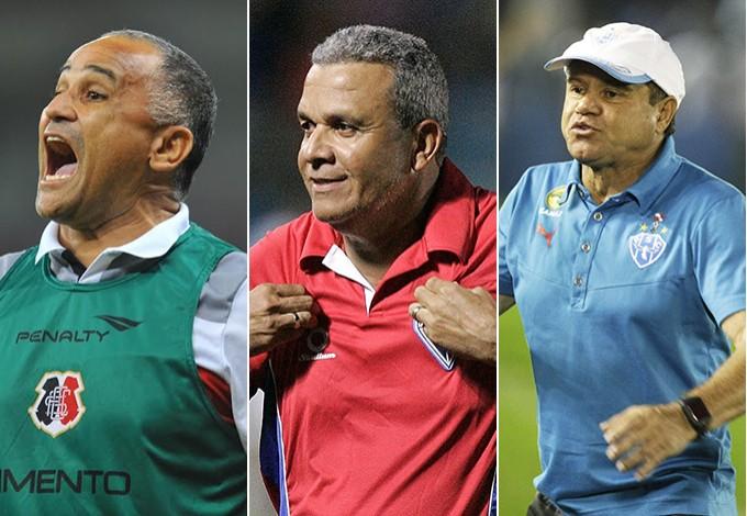 Oliveira Canindé, Hélio dos Anjos e Arturzinho: um desses será o treinador do Sampaio em 2015 (Foto: Arte/GloboEsporte.com)