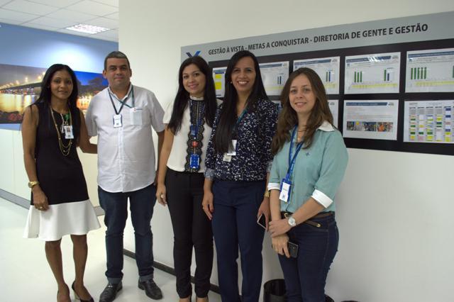 colaboradores): Troca de experiências entre Rosana Lira (Cemar), Filipe Sousa (Energisa), Francila Soares (Cemar) com Carla Petrucci e Aurecelia Pereira (Energisa).