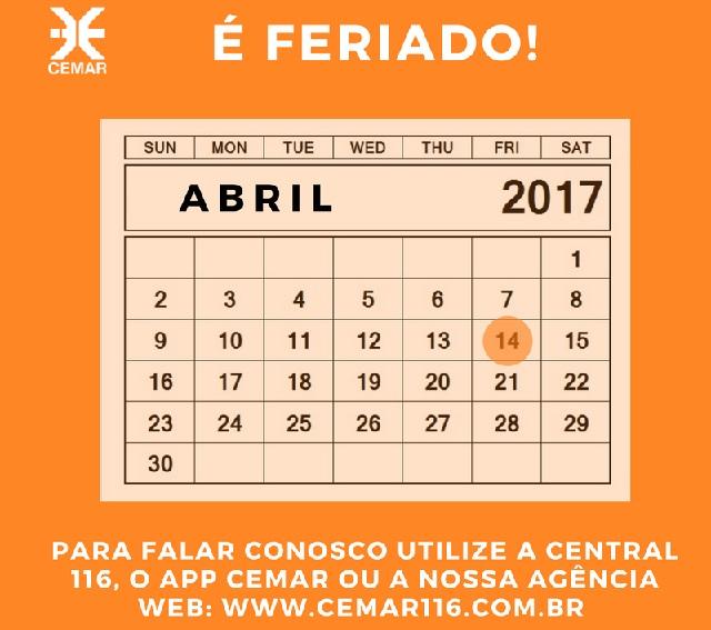 960142cd8 ... sempre bem informados e possam usufruir do atendimento da Cemar durante  o feriado da Semana Santa