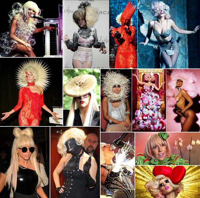 Lady Gaga e seus looks indefectíveis.
