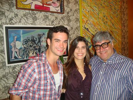O ator Sdiney Sampaio, Jessika Beirão (filha de Edilson Ferreira, grande amigo e parceiro profissional de Sergio Mattos) e Serginho, no Maracangalha