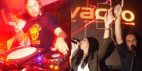DJ Luca di Napoli, da pacha de Búzios; e Projeto Vacuo Live.