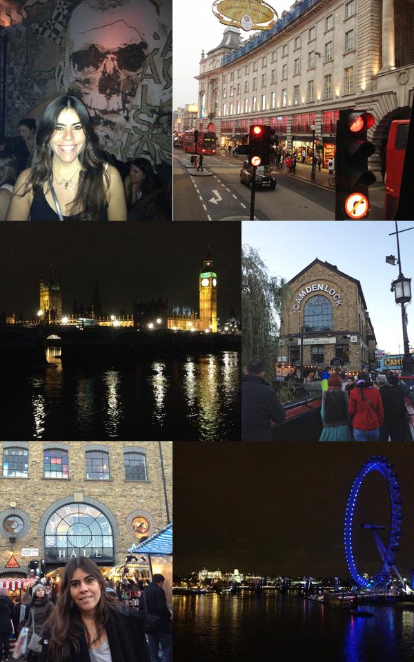 Londres captada pela lene do smartphone de Ericka.