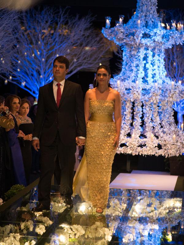 Bruno Duailibe e Ana Clara - ela, irmã da noiva.