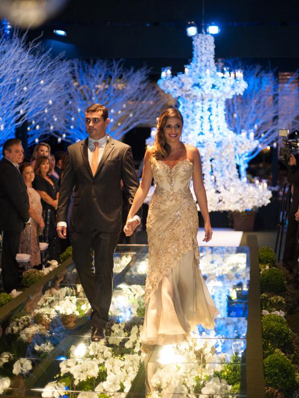 Hugo Caminha e Maria Adriana - ela, irmã da noiva.