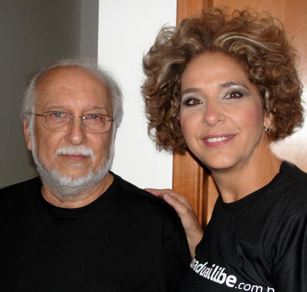 Roberto Menescal e Sandra Duailibe (Foto: Divulgação)