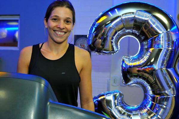 Rafaela Moreira, no aniversário de 3 anos da Personal Group (Foto: Maurício Moreira)