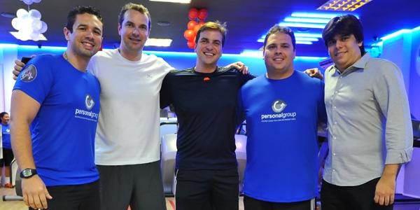 Gustavo e Rodolfo Almeida e Gino Longhi na moldura de Daniel Araújo e Severino Sales, que também entraram na sociedade da Personal Group.