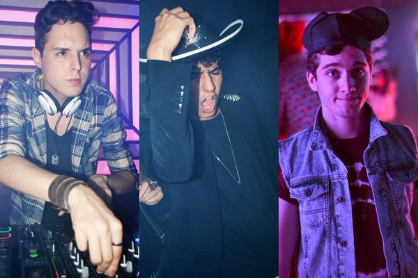 Kaio gaspar, Vinícius Ferreira e Hugo Uchôa, trio DJ-produtor da Shock Me. (Fotos: Tieza Cutrim).