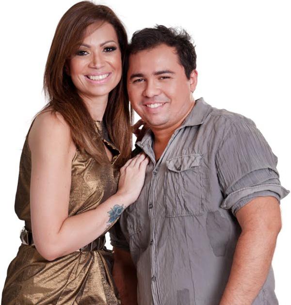 Solange Almeida e Xandinho, vocalista do Aviões do Forró (Divulgação)
