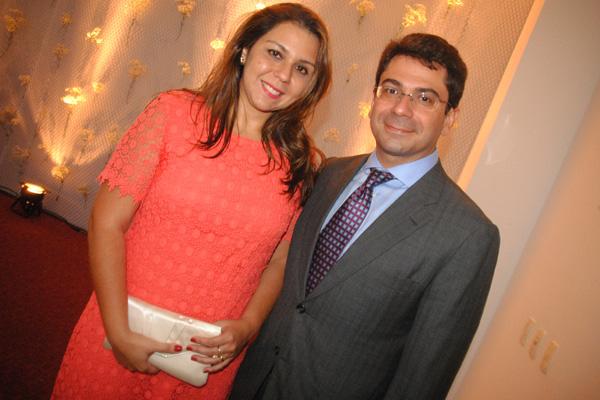 Renatha e o mais novo juíz do TRE-MA, Eduardo Moreira