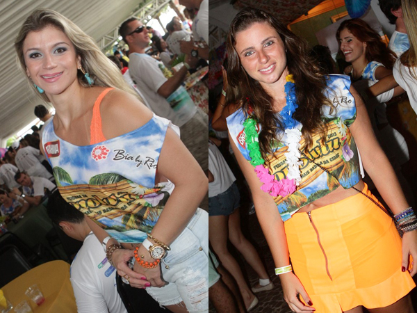 Ludmilla Castro e Isabela Murad, na edição 2013 da Feijoada de Honolulu (Foto: Miguel Viegas)