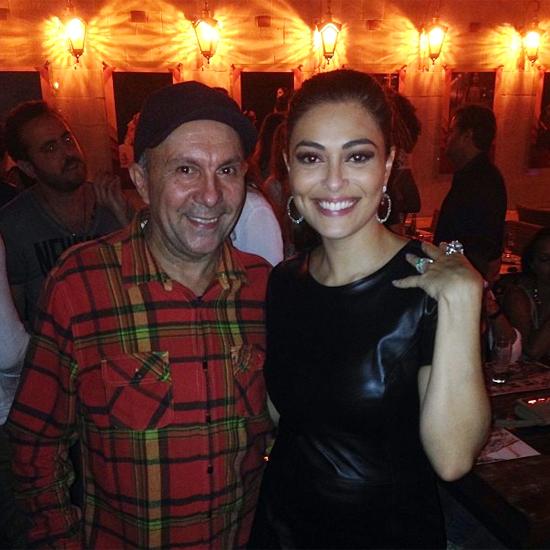 Parabéns, Gabriela: Edilson Ferreira esteve entre os presentes no aniversário de Juliana Paes (Foto: Instagram)