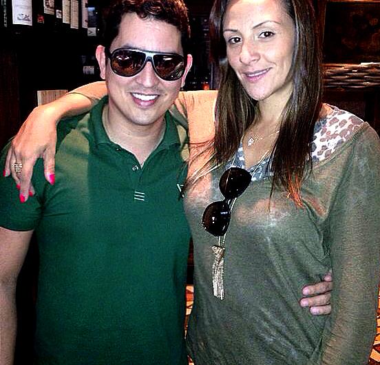 DJs Macau e Analy Rosa, em encontro no último carnaval, em Santa Catarina (Foto: Instagram).