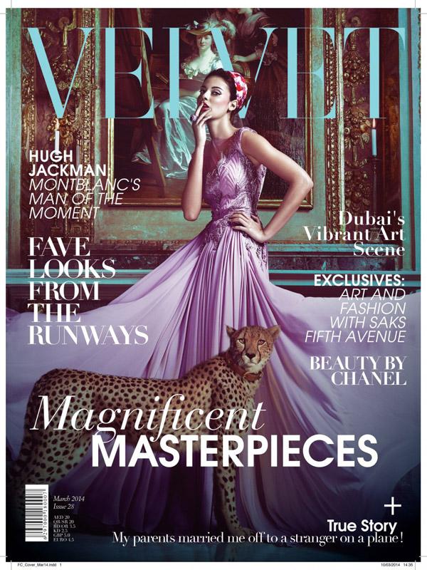 Capa da publicação de março da revista Velvet (Reprodução)