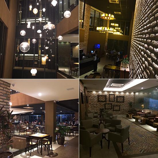 Detalhes do interior do Coco Bambu São Luís (Fotos: Oton Lima via celular)