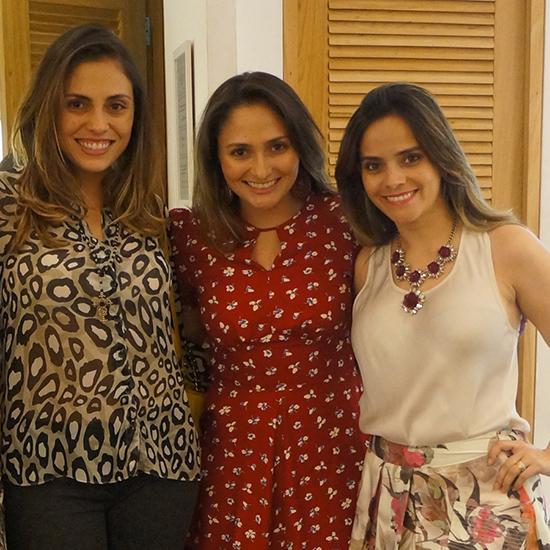 Maria Adriana e Maria Fernanda Sarney com Rafaela Albuquerque (Foto: Oton Lima)