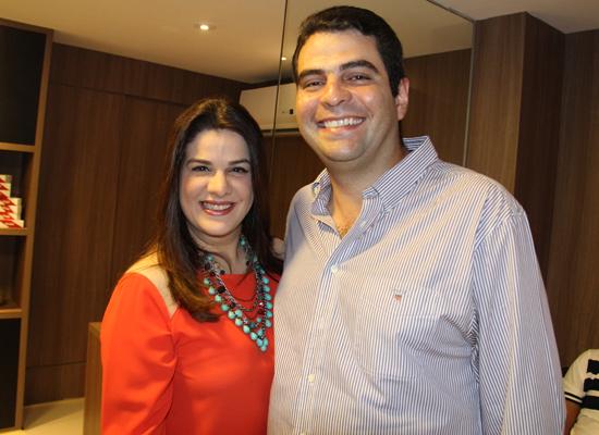 Bruna Maciel, da Camarim, com o esposo Gustavo Abdalla (Foto: Eduardo Brandão)