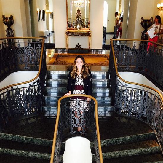 Lelê Saddi durante visita ao Palácio dos Leões (Foto/reprodução: Instagram)
