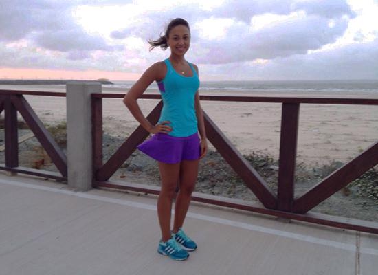 Natália Brasil já está nos preparativos para a CS Runners, no próximo domingo (Foto: Acervo Pessoal)
