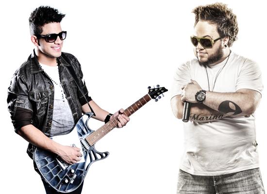 """Avneh Vinny, da banda """"Xe Pop"""", e Thiago Farra, atrações do Castelo da Fantasia 2014 (Divulgação)"""