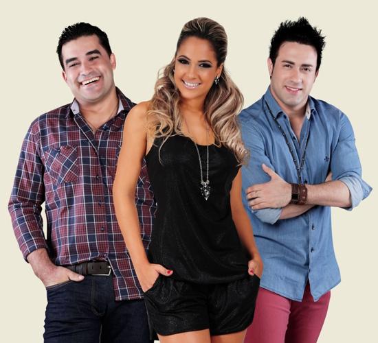 Diego Rafael, Michele Andrade e César Salles, vocalistas da atual formação da banda Limão Com Mel (Foto: Divulgação)