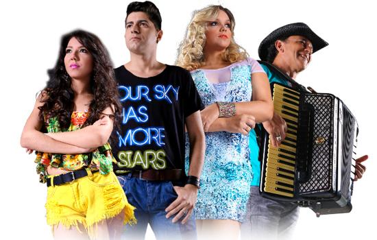 O quarteto de vocalistas da banda de forró Mastruz Com Leite (Divulgação)