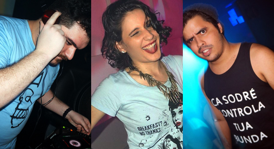 """RiVs, Carol Vieira e Cá Sodré, na última edição da Shock Me. O trio volta a comandar as pick ups na balada """"Say f*ck it"""" (Fotos Jarder Castro)"""